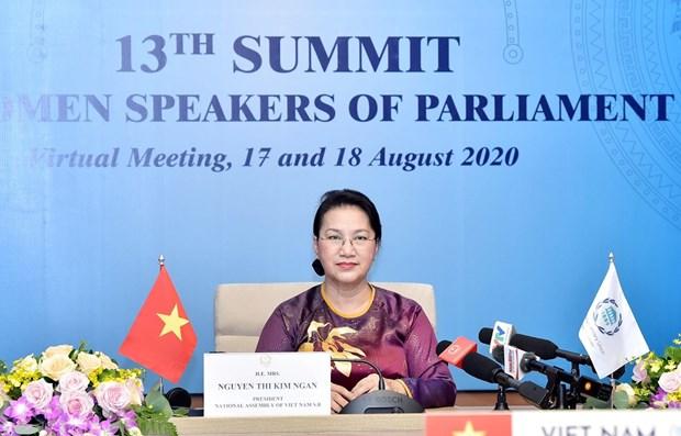 La presidente de l'AN Nguyen Thi Kim Ngan au 13e Sommet des presidentes de parlement hinh anh 1