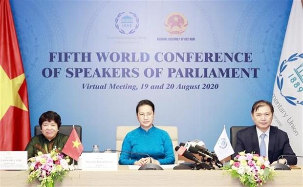 Le Vietnam participe a la 5e Conference mondiale des presidents de parlement hinh anh 1