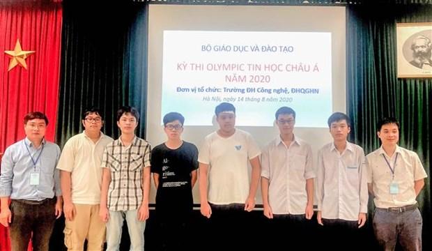 Le Vietnam remporte six medailles aux Olympiades d'informatique d'Asie-Pacifique 2020 hinh anh 1