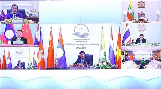 Le PM thailandais propose quatre domaines de cooperation Mekong-Lancang hinh anh 1