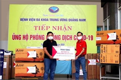 COVID-19 : Nguyen Kim fait don d'equipements aux hopitaux de Da Nang et Quang Nam hinh anh 2