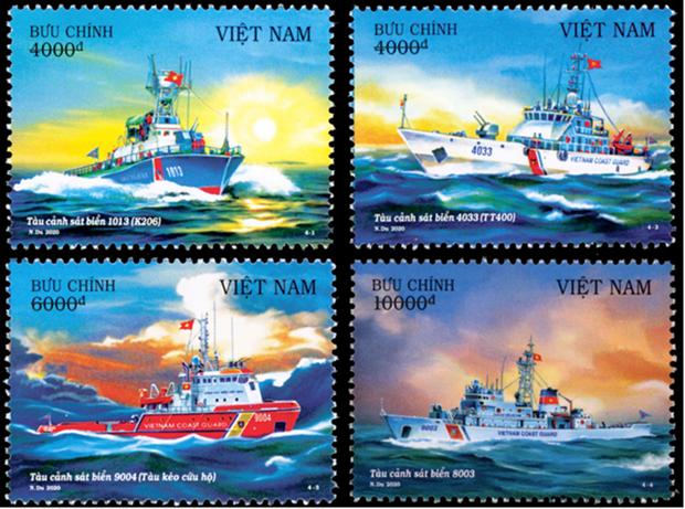 "Publication des timbres ""Navires des Garde-cotes du Vietnam"" hinh anh 1"