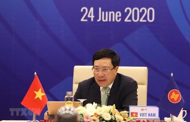 Les ministres des Affaires etrangeres de l'ASEAN se reuniront par visioconference hinh anh 1