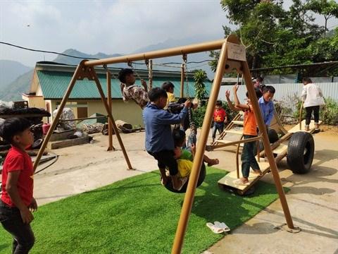 Une rentree de joie pour les enfants ethniques minoritaires a Tuc Dan hinh anh 2