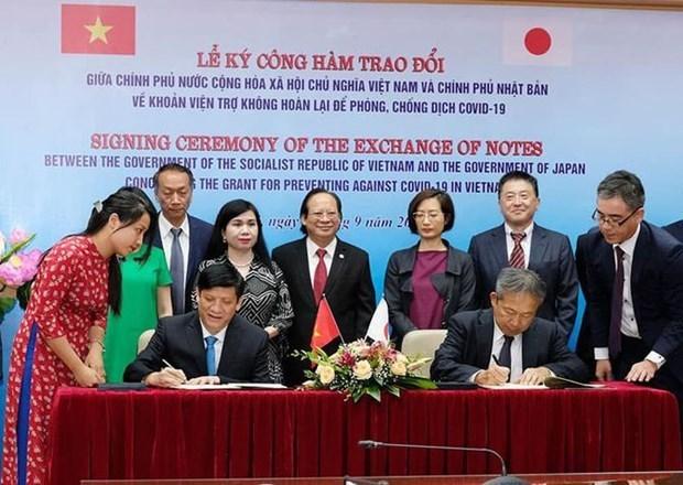 Le Japon soutient les hopitaux vietnamiens dans la lutte anticoronavirus hinh anh 1