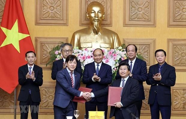 Le chef du gouvernement dialogue avec les entreprises japonaises hinh anh 1