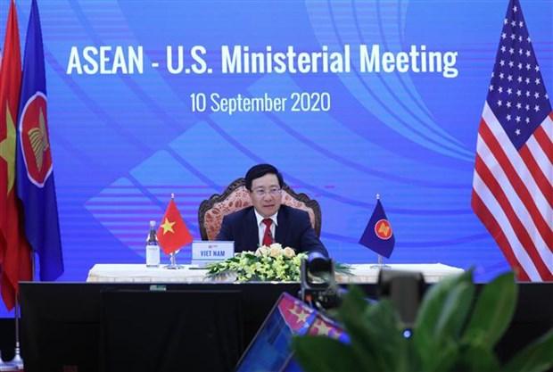Reunions par visioconference ASEAN-Etats-Unis et ASEAN-Canada hinh anh 1