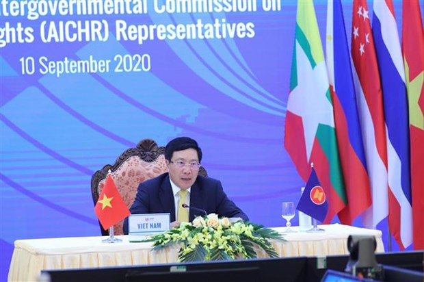 ASEAN : Dialogue virtuel sur les droits de l'homme hinh anh 1