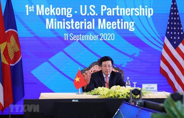 La premiere reunion ministerielle de partenariat Mekong-Etats-Unis hinh anh 1
