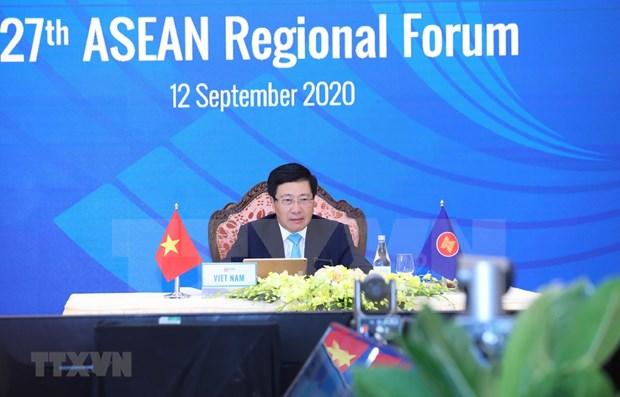 Le 27e Forum regional de l'ASEAN adopte des documents importants hinh anh 1