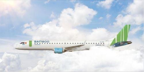 Bamboo Airways prend livraison d'un nouvel Embraer E195 hinh anh 1