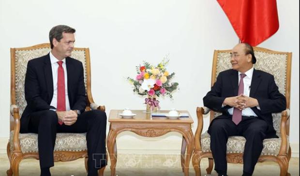 Le PM Nguyen Xuan Phuc recoit le nouveau directeur national de la BAD hinh anh 1