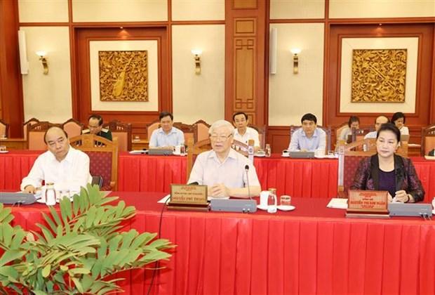 Le leader Nguyen Phu Trong montre la voie a la Police populaire hinh anh 1