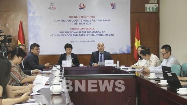Conference de promotion commerciale en ligne pour les produits alimentaires et agricoles hinh anh 1