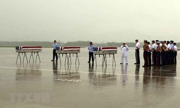 Rapatriement des restes d'un soldat americain porte disparu au Vietnam hinh anh 1