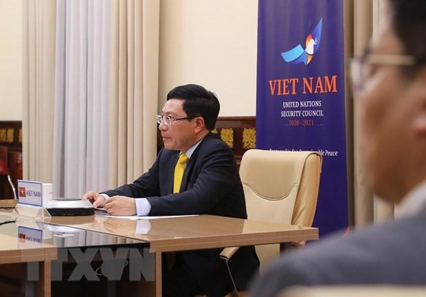 Le vice-PM et ministre des AE Pham Binh Minh a un debat au sommet du Conseil de securite de l'ONU hinh anh 1