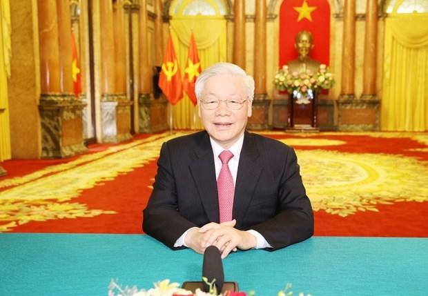 Le leader Nguyen Phu Trong adresse un message a la 75e session de l'AGNU hinh anh 1
