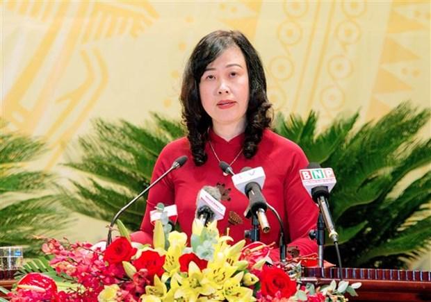 Bac Ninh : Dao Hong Lan elue secretaire du Comite provincial du Parti pour 2020-2025 hinh anh 1