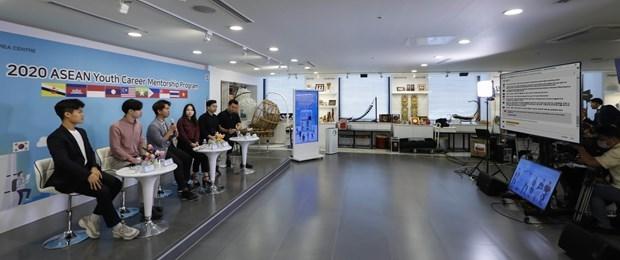 Le programme de mentorat de carriere pour les jeunes de l'ASEAN tenu en ligne hinh anh 1
