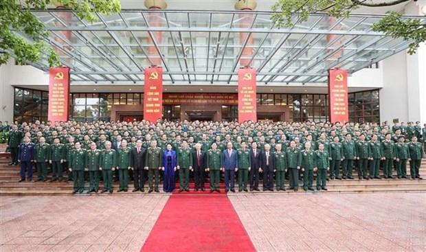 Le leader exhorte a rendre le Comite du Parti de l'Armee sain et puissant hinh anh 2