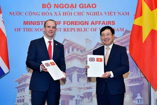 Le Vietnam et le Royaume-Uni publient une declaration conjointe sur leur partenariat strategique hinh anh 1