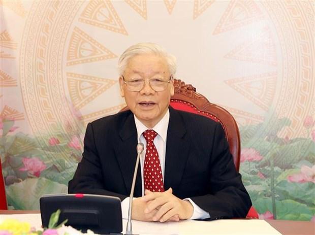 Vietnam-Chine : conversation telephonique entre Nguyen Phu Trong et Xi Jinping hinh anh 1