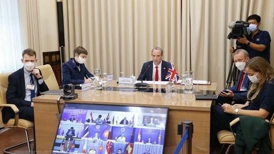 L'ASEAN et le Royaume-Uni cooperent dans la lutte anti-COVID-19 hinh anh 1