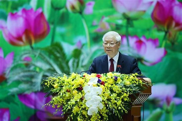 Le leader Nguyen Phu Trong felicite le seteur de la meteorologie et de l'hydrologie hinh anh 1