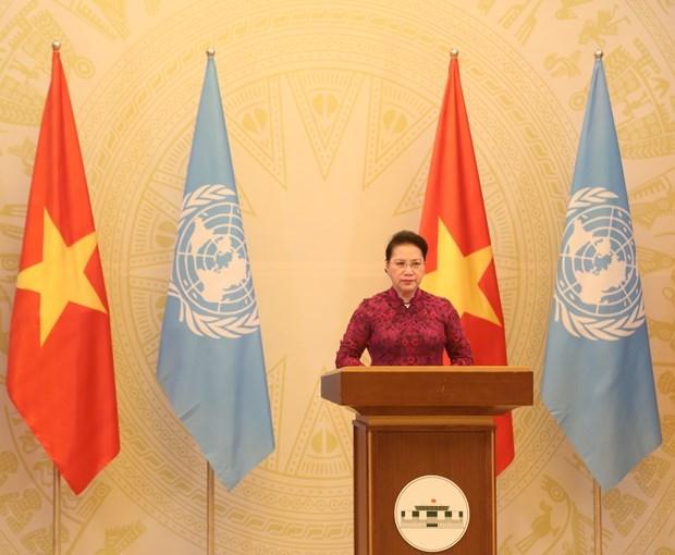 La presidente de l'AN adresse un message a la reunion de haut niveau de l'AGNU hinh anh 1