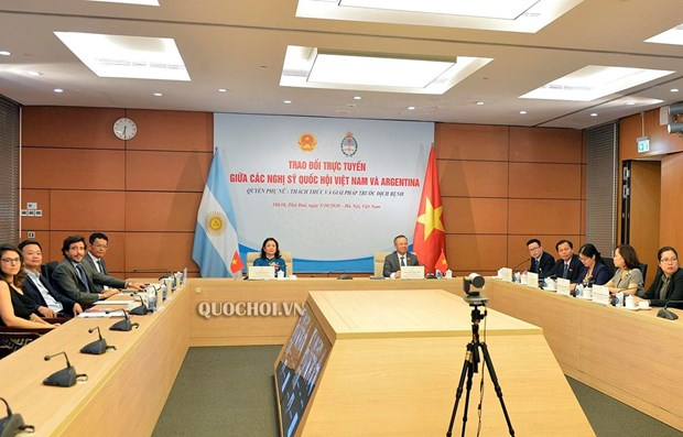 Vietnam-Argentine : echange virtuel sur les droits des femmes dans le contexte du COVID-19 hinh anh 1