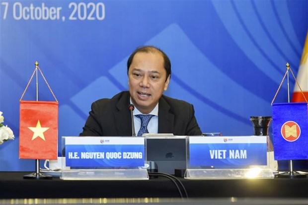 Reunion par visioconference des hauts officiels de l'ASEAN hinh anh 1