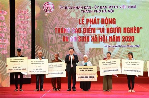 Hanoi lance le mois « Pour les pauvres » en 2020 hinh anh 1