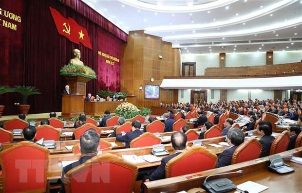 Le travail du personnel domine le 4e jour de travail du 13e Plenum du Comite central du Parti hinh anh 1