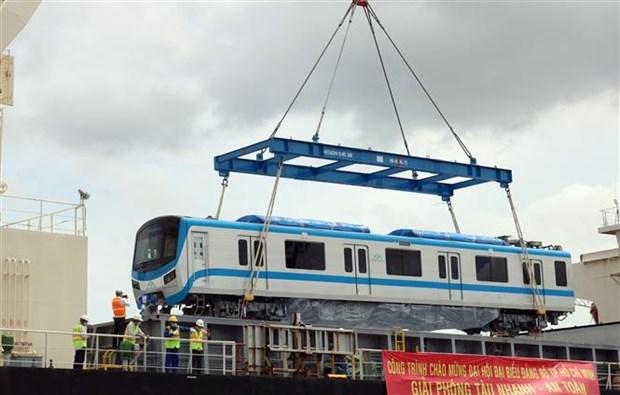 La ligne de metro n°1 a Ho Chi Minh-Ville accueille son premier train hinh anh 1