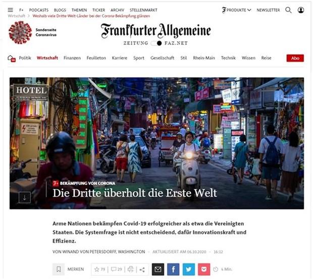 Un journal allemand salue le modele anti-COVID-19 du Vietnam hinh anh 1