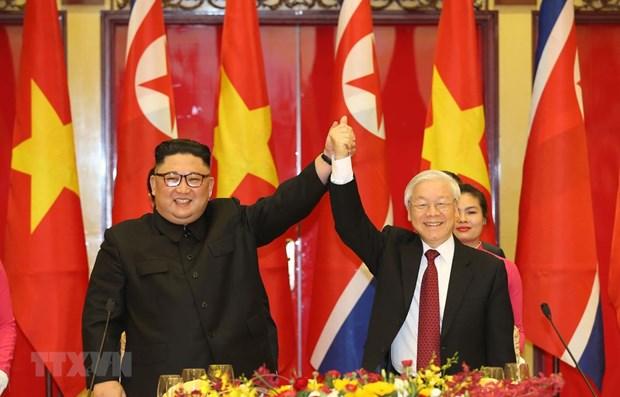Felicitations a l'occasion des 75 ans de la fondation du Parti du Travail de Coree hinh anh 1