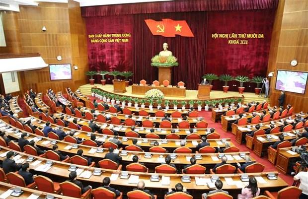 Communique de presse sur la seance de cloture du 13e Plenum du Comite central du Parti hinh anh 1
