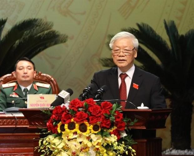 Ouverture du 17e Congres de l'organisation du Parti de Hanoi hinh anh 1