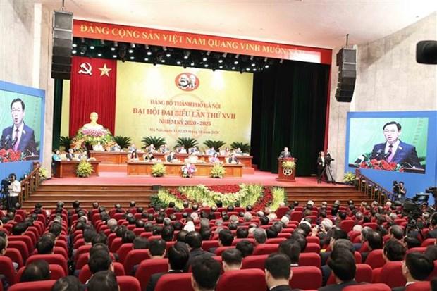 Ouverture du 17e Congres de l'organisation du Parti de Hanoi hinh anh 2