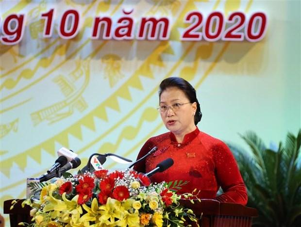 La presidente de l'AN demande de faire de Khanh Hoa un pole de croissance hinh anh 1