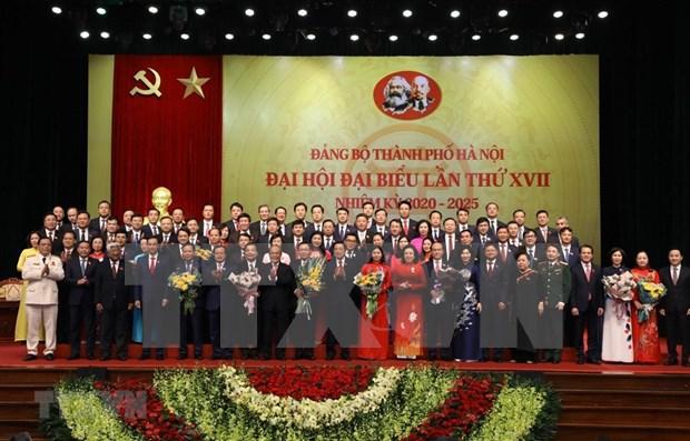 Cloture du 17e Congres de l'organisation du Parti de Hanoi hinh anh 1