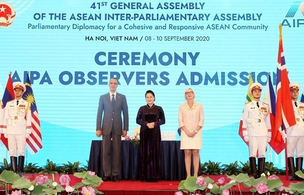 Les presidents de parlement felicitent le Vietnam pour l'AIPA-41 hinh anh 1