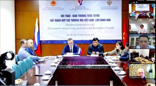Webinaire sur le commerce entre le Vietnam et la Russie hinh anh 1