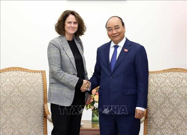 Le Premier ministre recoit la directrice nationale de la Banque mondiale hinh anh 1
