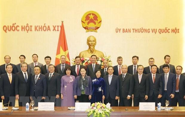 La presidente de l'AN recoit des diplomates vietnamiens a l'etranger hinh anh 1