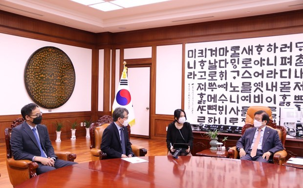 Le chef de l'AN de la R. de Coree affirme le role central du Vietnam dans la nouvelle politique Sud hinh anh 1