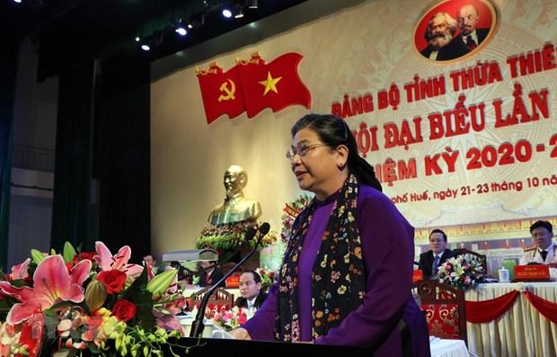 Ouverture du 16e Congres de l'organisation du Parti de la province de Thua Thien-Hue hinh anh 1
