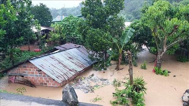 Continuer de faire face aux pluies et crues qui suivent le typhon Molave hinh anh 1