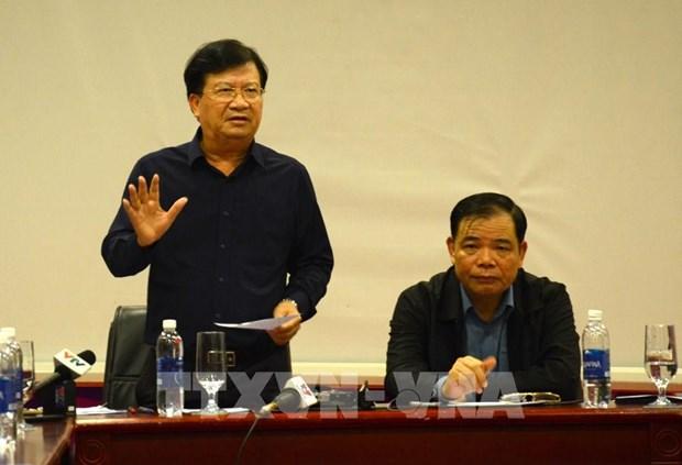 Le vice-PM Trinh Dinh Dung inspecte le travail de reponse au typhon a Quang Nam hinh anh 1