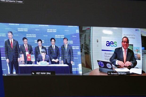 PV GAS et la societe AES signent un accord sur le projet d'entrepots et ports GNL My Son hinh anh 1